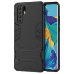 Slim Armour Tough Shockproof Case & Stand for Huawei P30 Pro - Black